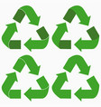 recycle arrow icons set vector image