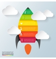 rocket element for infographic vector image vector image