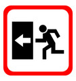 safe sign the exit icon emergency exit red icon vector image vector image