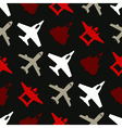 Seamless background with different airplanes vector image vector image