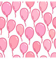 seamless pattern with pink balloons naive and vector image vector image