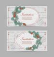 set horizontal banners merry christmas and new vector image