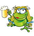 sexy girl frog cartoon vector image