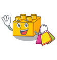 shopping plastic shaped toy on constructi vector image vector image