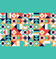 simple geometric pattern bright color vector image