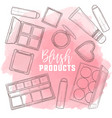 sketch set of makeup products vector image