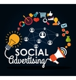 Social Advertising and Digital Marketing design vector image vector image
