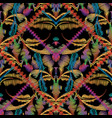 striped embroidery baroque colorful seamless vector image vector image
