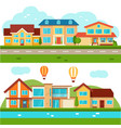 suburban cottage private houses vector image vector image