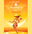 summer party invitation flyer design sea beach vector image vector image