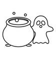 trick or treat - happy halloween line style vector image vector image