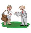 vendor selling newspaper vector image vector image
