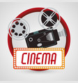 vintage camera fim cinema poster vector image