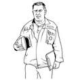 worker in work suit vector image