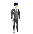 young asian confident groom vector image vector image