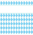 background for october fest with blue diamonds vector image