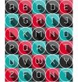Colofrul Flat icons alphabet vector image