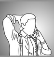 businessman put the hand on his head back vector image
