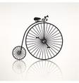 vintage retro bicycle silhouette icon vector image
