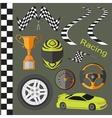Car race icons set vector image