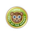 2016 year monkey chinese new year animal vector image vector image