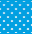 alarm clock pattern seamless blue vector image vector image