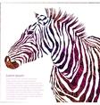 Animal ornamental silhouette zebra vector image vector image