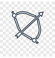 archery concept linear icon isolated on vector image vector image