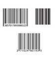 barcode and number icon vector image vector image