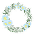 beautiful wreath flowers and plants vector image