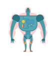 Bio robot structure Man with cybernetic vector image