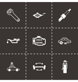 black car service icons set vector image vector image