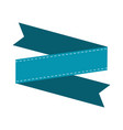 blank ribbon banner vector image vector image