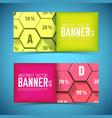 business geometric horizontal banners vector image