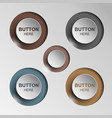 button sleek brown for web design vector image