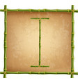 capital letter i made of green bamboo sticks on vector image vector image