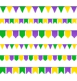 Carnival flags set isolated on white background vector image vector image