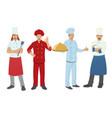 chef flat character set vector image vector image