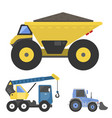 construction delivery truck transportation vehicle vector image vector image