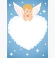 cupid frame vector image vector image