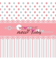 Cute welcome baby shower vector image vector image