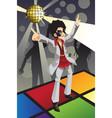 disco man vector image