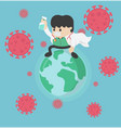 doctor save world stop covid-19 vector image vector image