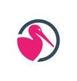 Egret animal logo design