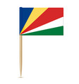 flag of seychelles swedish flag toothpick vector image vector image