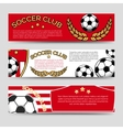 football banners set vector image vector image
