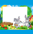 frame with easter bunny theme 9 vector image