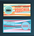 gift voucher template set in flat style vector image