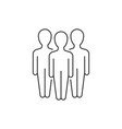 group three people linear icon on white vector image