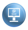 hacked computer icon simple style vector image vector image